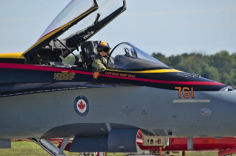 "Ryan ""Roid"" Kean, London native and CF-18 Demonstration Team CF-18 Hornet pilot"