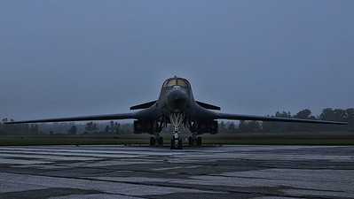 B-1B in the morning mist