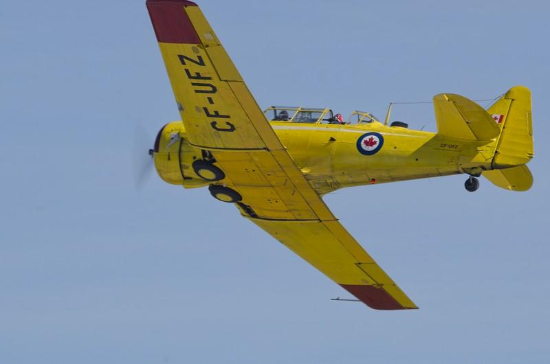 Harvard from the Canadian Harvard Aircraft Association overhead