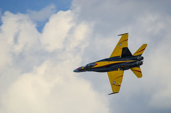 CF-18 Demonstration Team Hornet tribute to BCATP