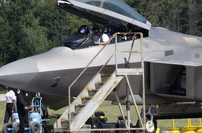 F-22 techs busy all weekend