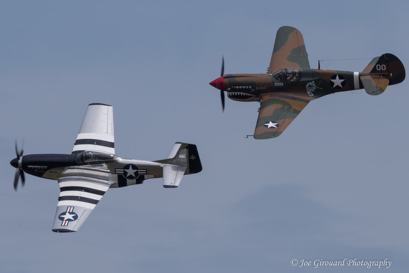 """Curtiss P-40 """"Warhawk"""" and QuickSilver tribute pass"""