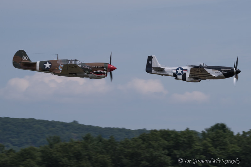 "Curtiss P-40 ""Warhawk"" and QuickSilver tribute pass"