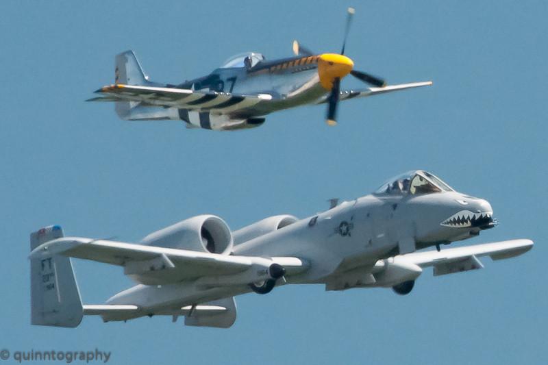 P-51 Mustang & US Air Force A-10C Thunderbolt