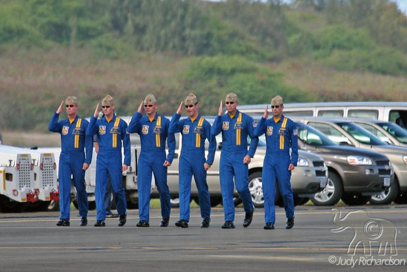 Blue Angels Elite Pilots~Salute