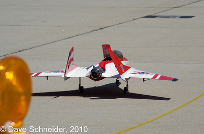 Actually smaller than you might expect - a small model flown by remote.