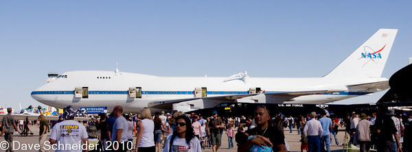 The 747 used to move the Space Shuttle from Edwards to Cape Canaveral