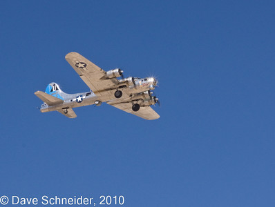 A visit to Edwards AF Base in CA for the air show. B17 bomber.