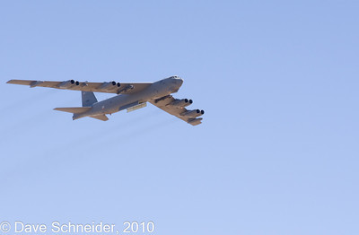 B52 Bomber on a simulated bombing run