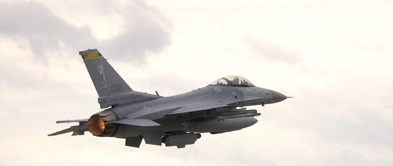 "F-16 Viper from Vermont National Guard ""Green Mountain Boys"""