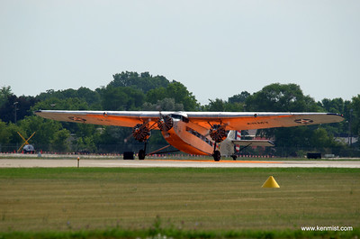Ford Tri-Motor on the Orange Dot at Oshkosh at AirVenture 2012