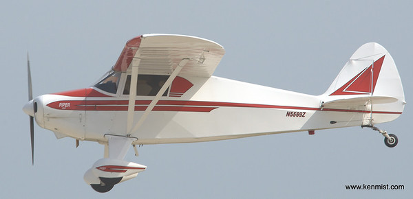 1962 Piper PA-22 on landing at Oshkosh for AirVenture 2012