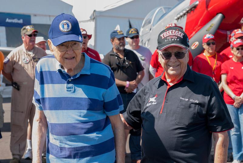 Col. William Brake and Lt. Col. George Hardy at Sun 'n Fun 2016