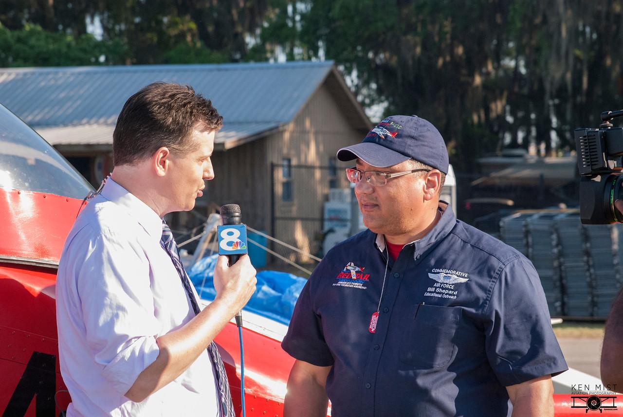 Bill Shepard being interviewed by Channel 8 News