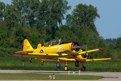 Harvards rolling at Tillsonburg Regional Airport Open House
