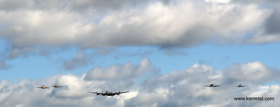 Hurricane, Kittyhawk, Lancaster, Corsair and Spitfire.