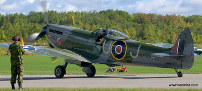 Michael Potter and the Vintage Wings of Canada Spitfire.