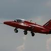 Red Arrow Hawk Jet Taking Off