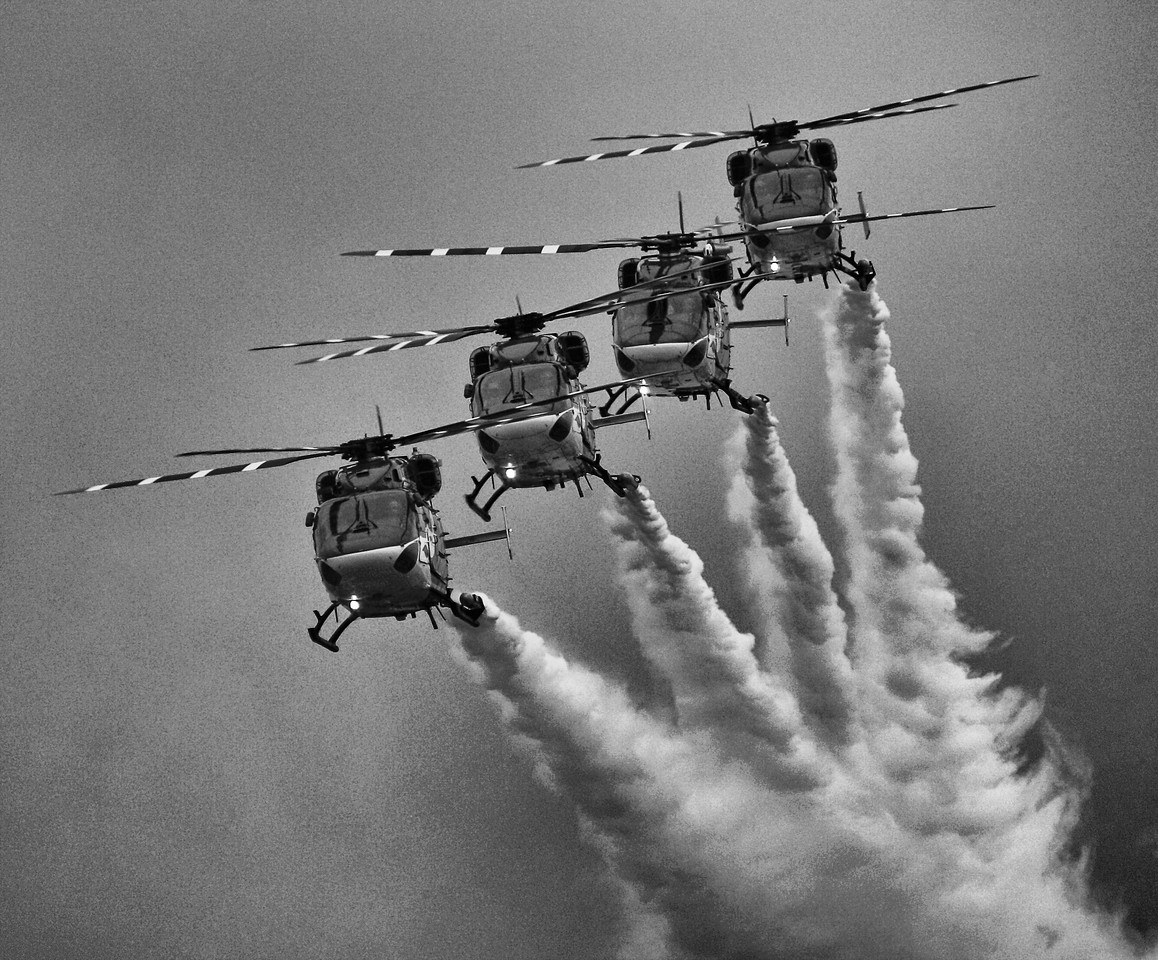 Indian Army Helicopter Team Display