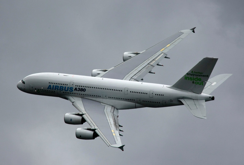 French Airbus A380 Plane in Flight