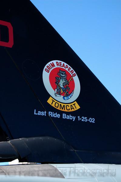 Retired F-14 Tomcat - Last Flight 1-25-02, Grim Reapers Squadron