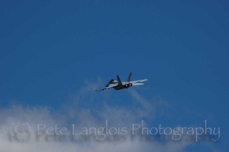 F-18 Hornet w/afterburners glowing