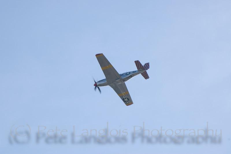 "P-51C ""Betty Jane"" takes flight over Manchester-Boston Regional Airport"