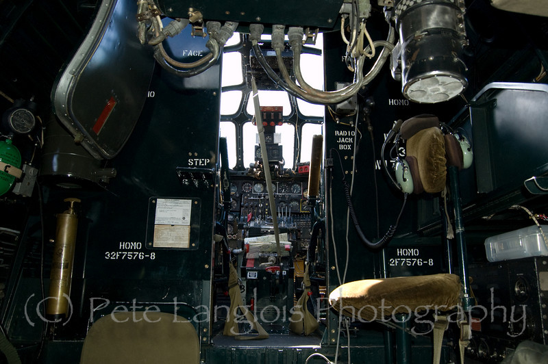 "Inside the B-24J Liberator ""Witchcraft"" on display at the Aviation Museum of NH located at the Manchester-Boston Regional Airport"