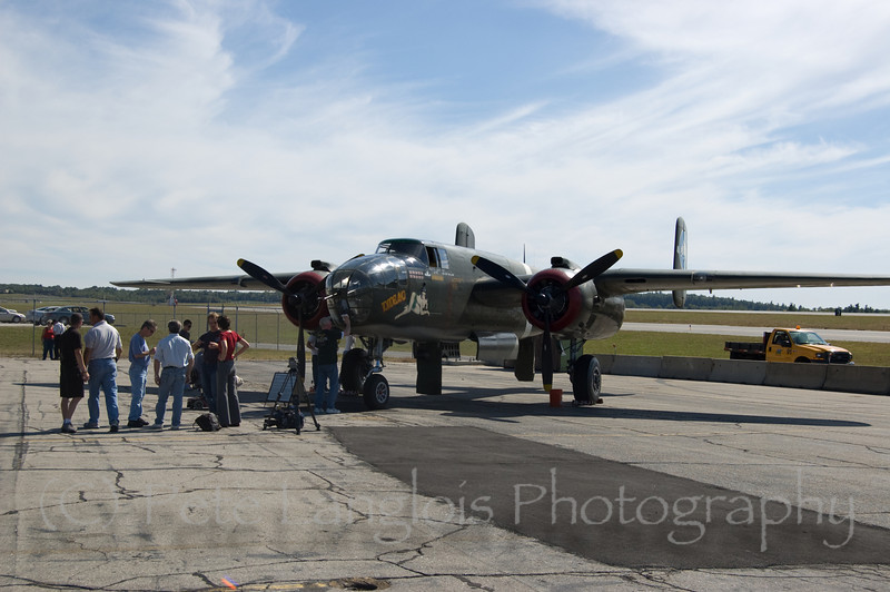 """B-25 Mitchell """"Tondelayo"""" on display at the Aviation Museum of NH located at the Manchester-Boston Regional Airport"""