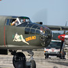 "B-25 Mitchell ""Tondelayo"" arriving at Manchester-Boston Regional Airport"