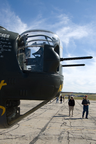"B-24J Liberator ""Witchcraft"" on display at the Aviation Museum of NH located at the Manchester-Boston Regional Airport"