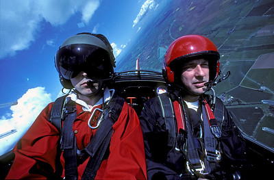 Self and pilot in the Firefly over North Yorkshir