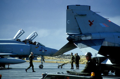 Phantoms at RAF Stanley, Falkland Islands 1986.