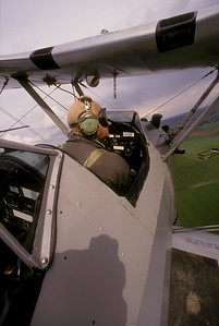 Jim Avis in his Stearman over Norfol