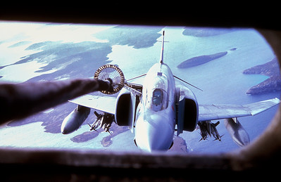 Phantom tanking over the Falkland Islands.