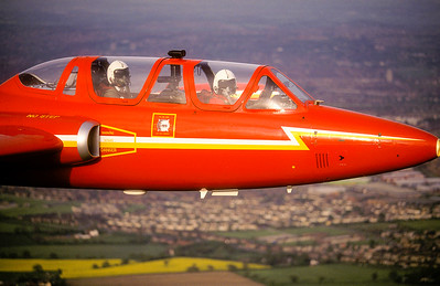 Fouga Magister over Nottinghamshir