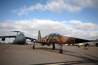 MIRAMAR, CA - Big C-5 Galexey and a little F-5 Tiger II