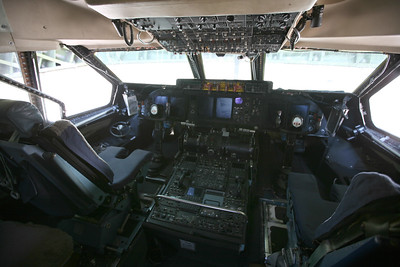 MIRAMAR, CA - The C-5 Galexey cockpit.