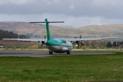 Aer Lingus Regional (Aer Arann) ATR 72-600 (EI-FAW) on the taxiway at Glasgow Airport prior to take off