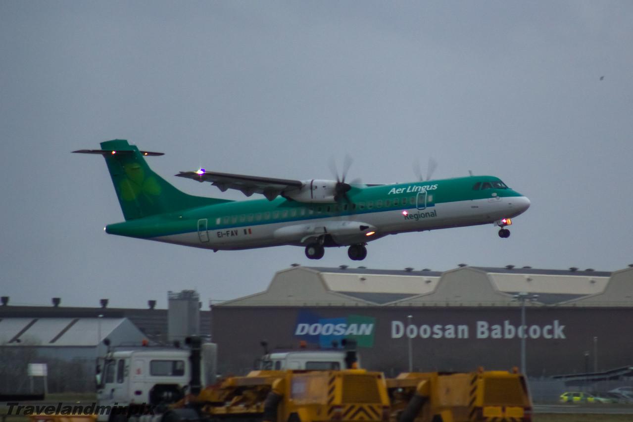 EI-FAV Aer Lingus Regional (Stobart Air) ATR 72-600 Glasgow Airport 23/01/2016