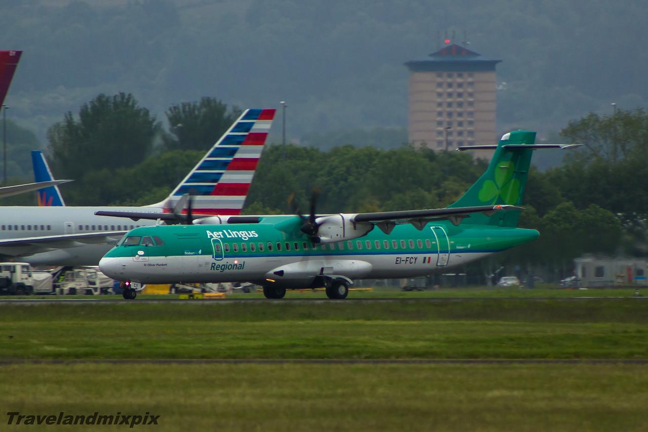 EI-FCY Aer Lingus Regional (Stobart Air) ATR 72-600 Glasgow Airport 06/06/2015