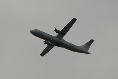 An Aer Arann ATR ATR-72-201 (EI-REH) after take off from Glasgow Airport. The aircraft will eventually be changed into Aer Lingus Regional livery as Aer Arran will be concentrating all their aircraft on these services.