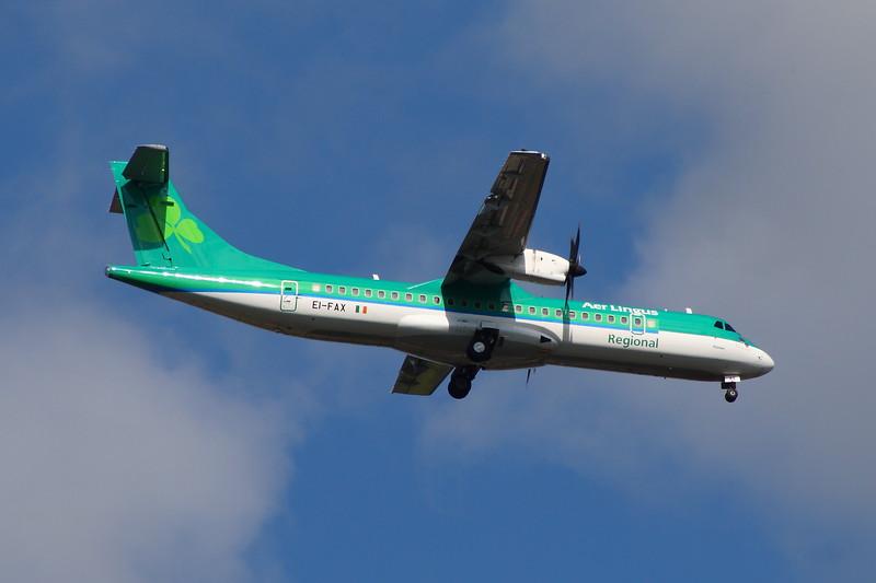 EI-FAX Aer Lingus Regional (Stobart Air) ATR 72-600 Glasgow Airport 26/08/2014