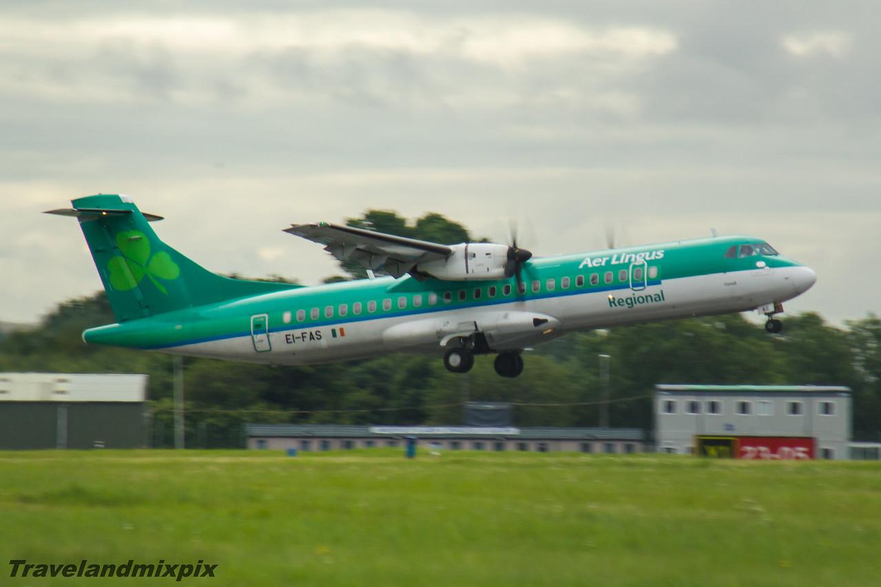EI-FAS Aer Lingus Regional (Stobart Air) ATR 72-600 Glasgow Airport 26/07/2016