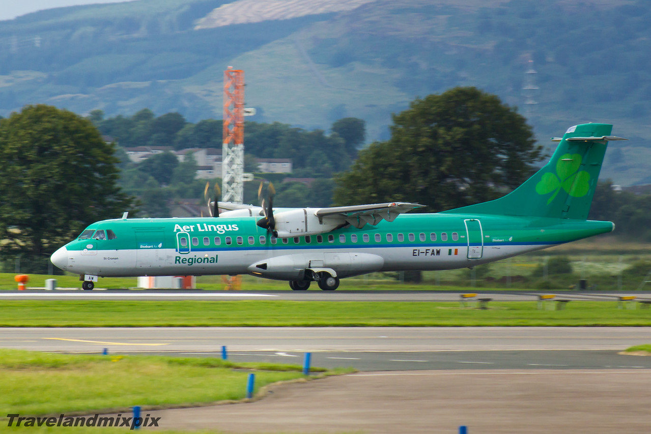 EI-FAW Aer Lingus Regional (Stobart Air) ATR 72-600 Glasgow Airport 05/08/2016
