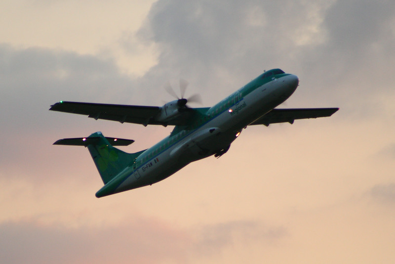 EI-FAW Aer Lingus Regional (Stobart Air) ATR 72-600 Departing Glasgow Airport 23/07/2014