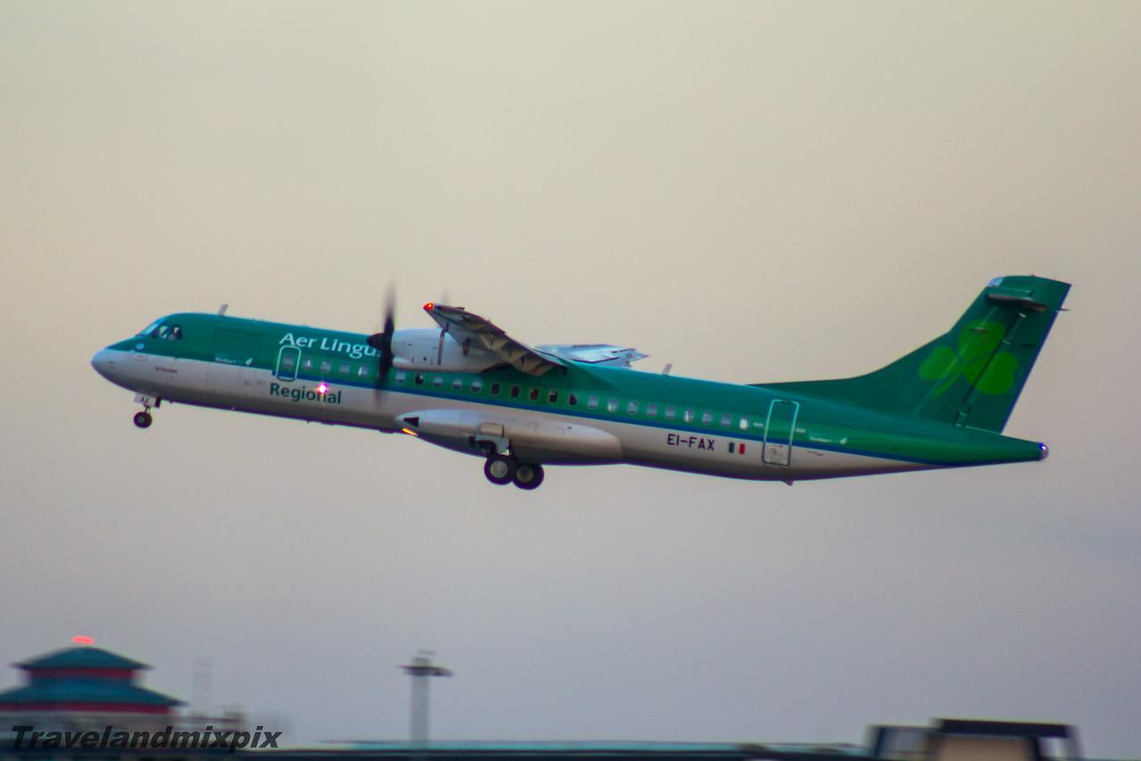 EI-FAX Aer Lingus Regional (Stobart Air) ATR 72-600 Glasgow Airport 22/04/2016