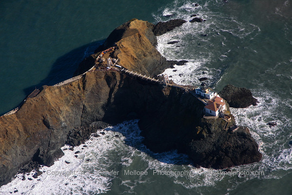 Aerial View of Point Bonita Lighthouse