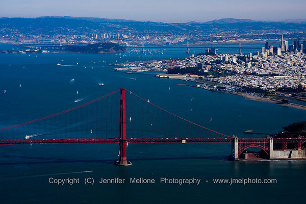 Entering San Francisco Bay from the Air