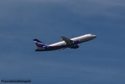 VP-BMF Aeroflot Airbus A320-214 Malaga Airport 24/06/2015